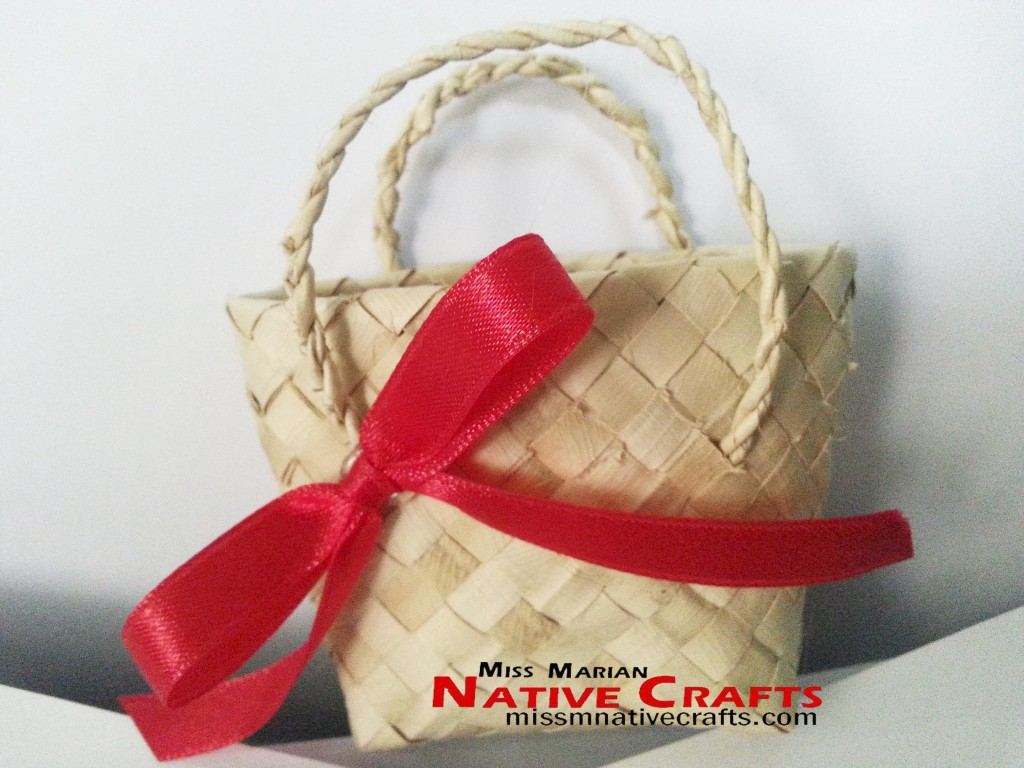 Mini Palm Leaf Favor Tote Bag