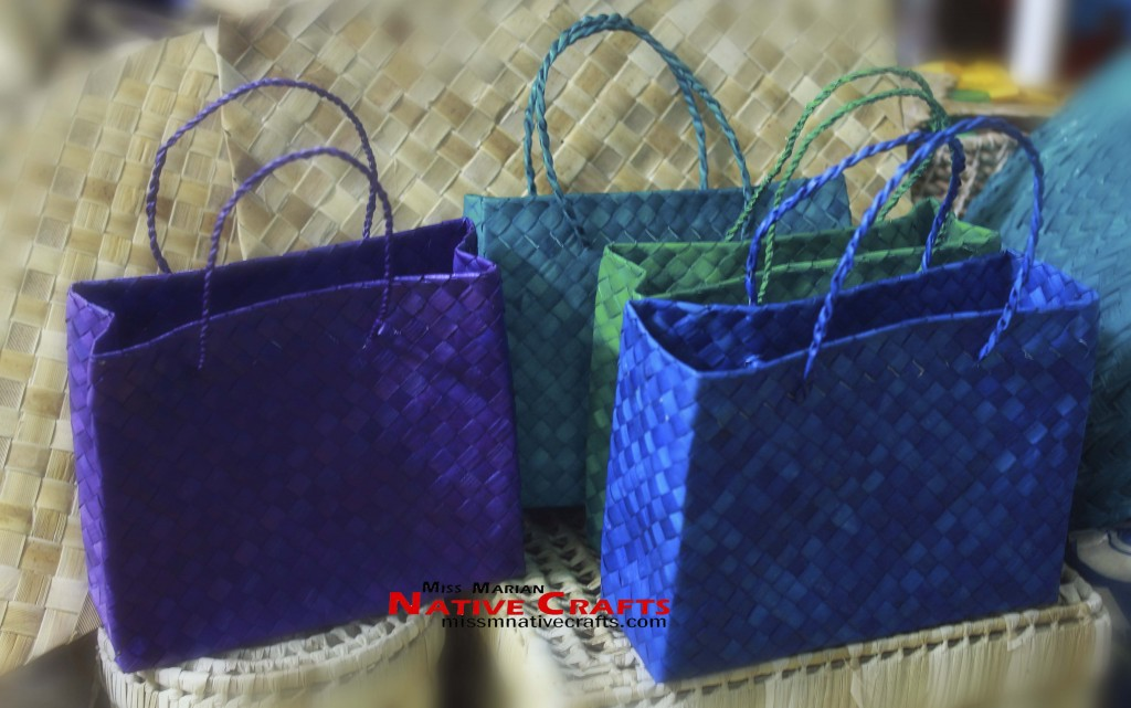 Buri or Native Colored Kete Bags