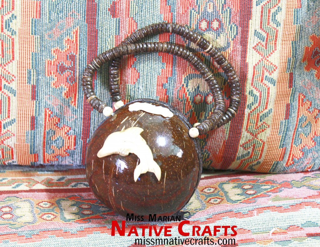 Coconut Shell Purse / small handbag