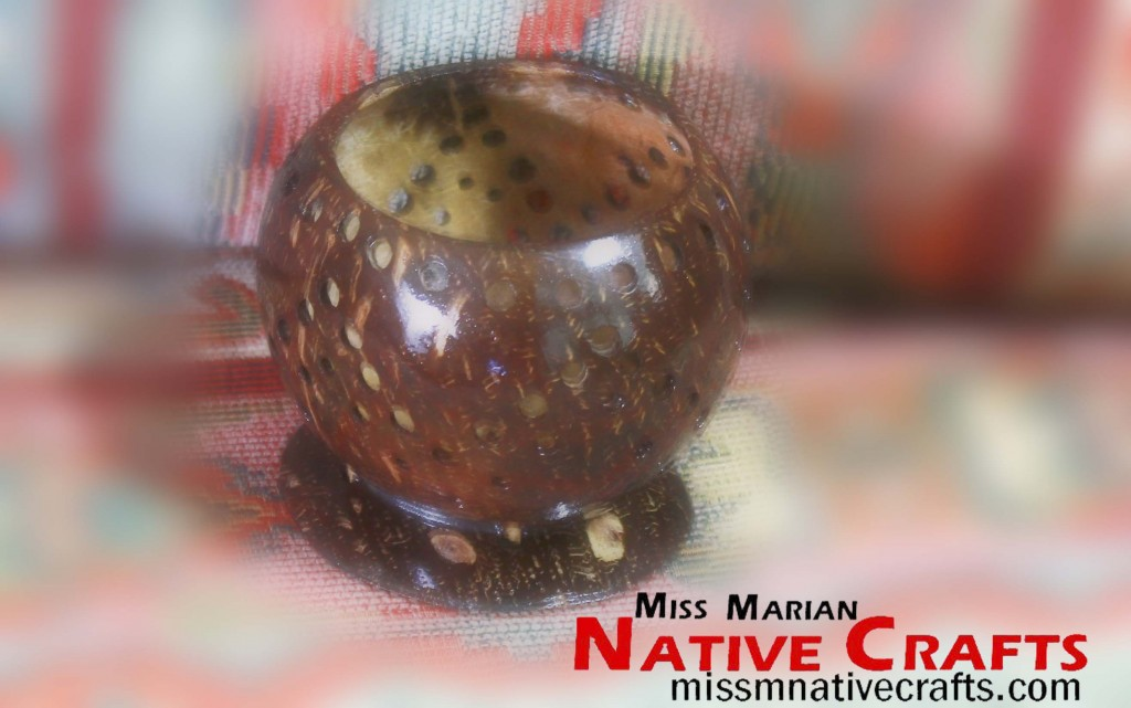 Coconut Shell Cup style with holes