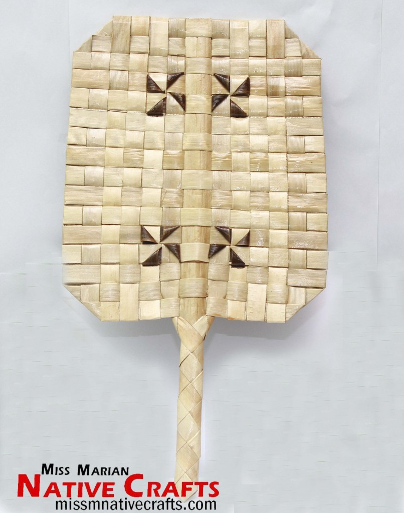 Rectangle Pandan / Lauhala Hand Fan