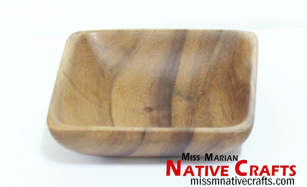 Small Square wooden bowl