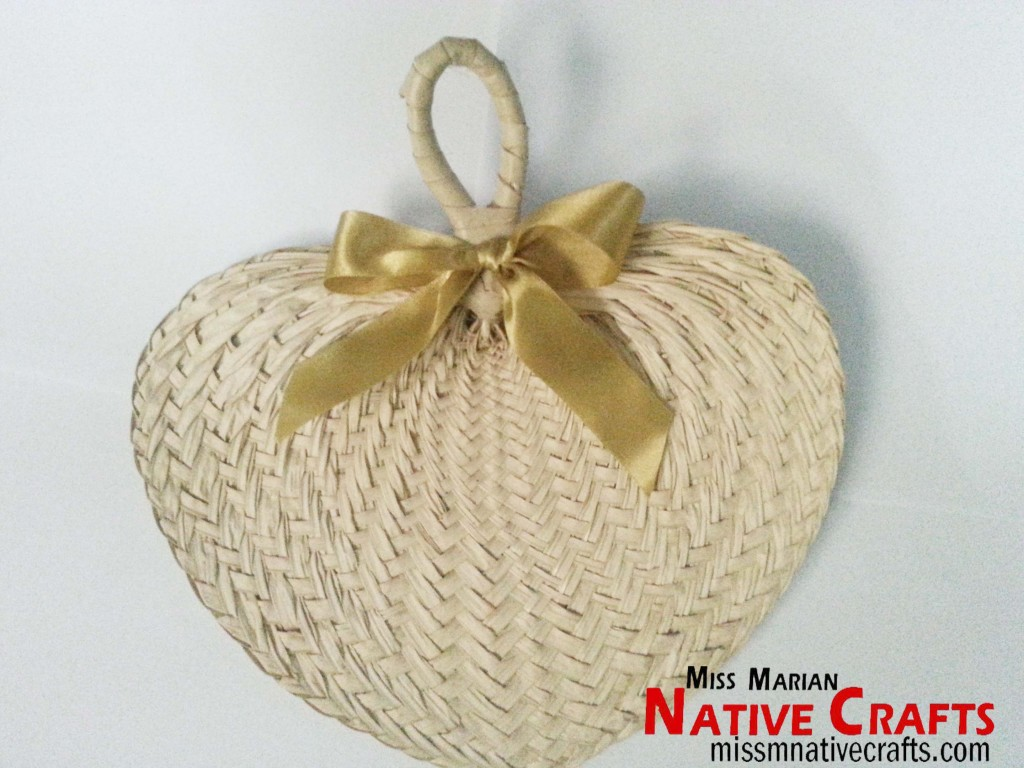 Medium Buri Palm-Leaf  fan Wedding favors