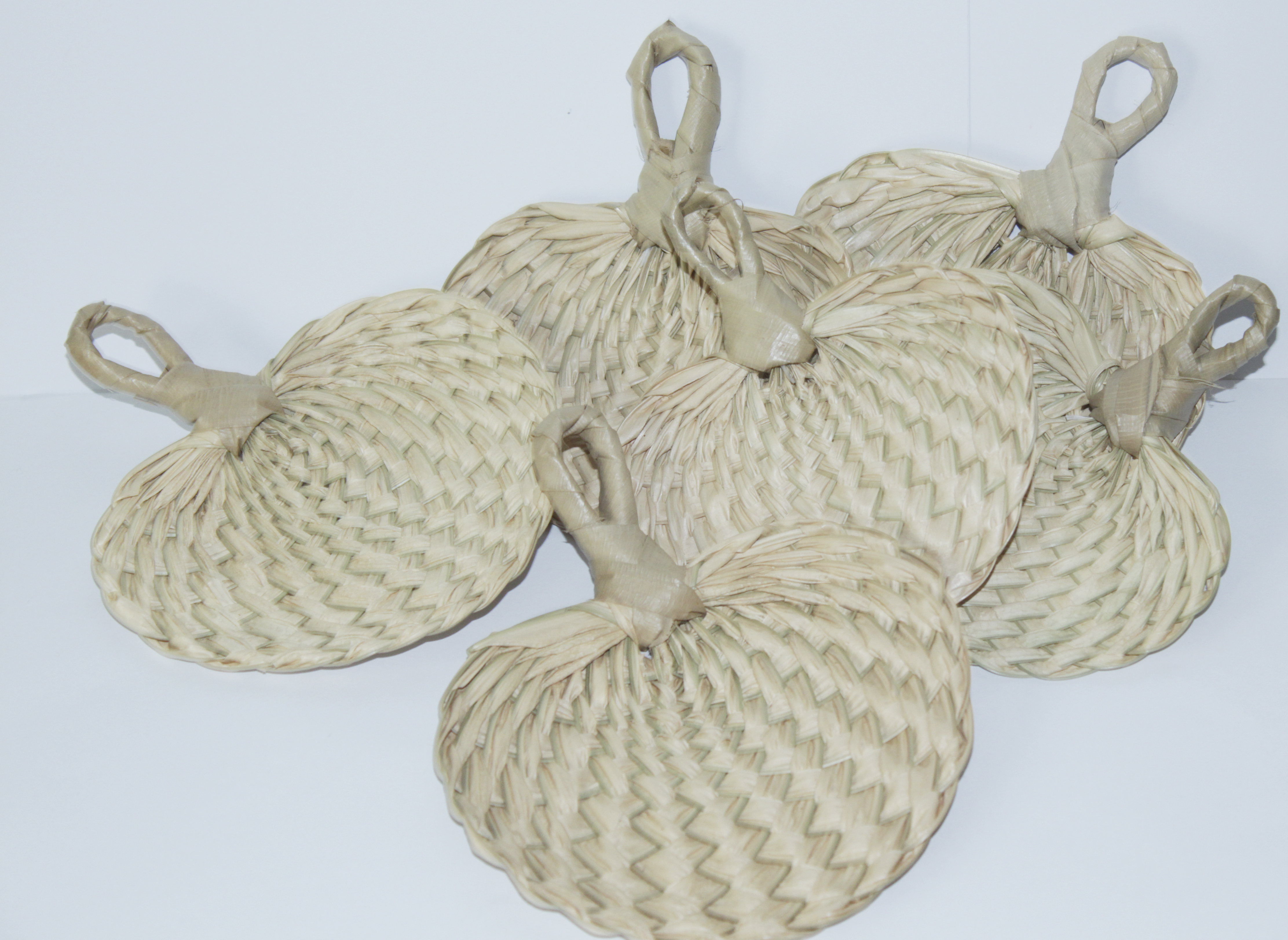Handwoven Mini Buri Wedding Fans, Buri Palm Fans, Wedding Fan