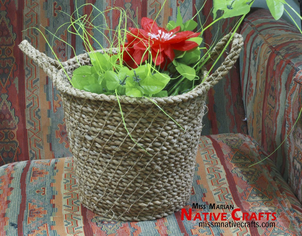 Twisted Twine Rope Waste Basket