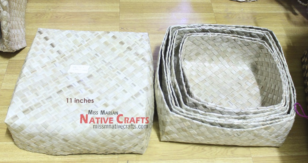 Lauhala boxes set of 4 Wholesale, (11,10,9,8 inches)