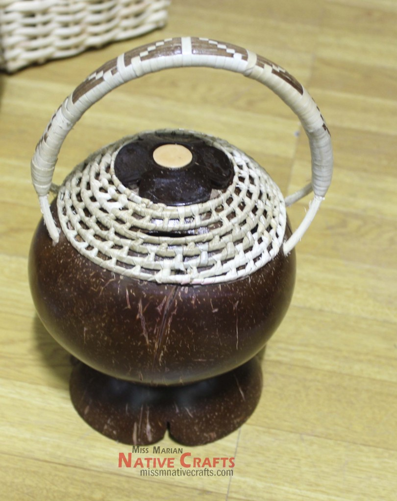 Coconut Shell Coin Saver