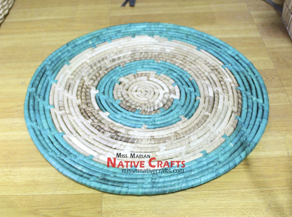 Lauhala Large Coaster with colors