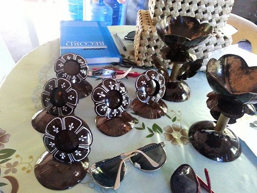 Coconut Shell Picture Frame