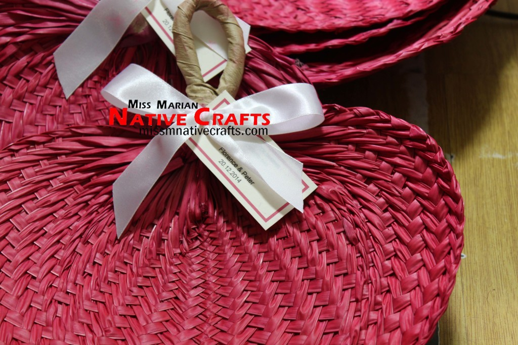 Red Hand Fans Wedding Favors