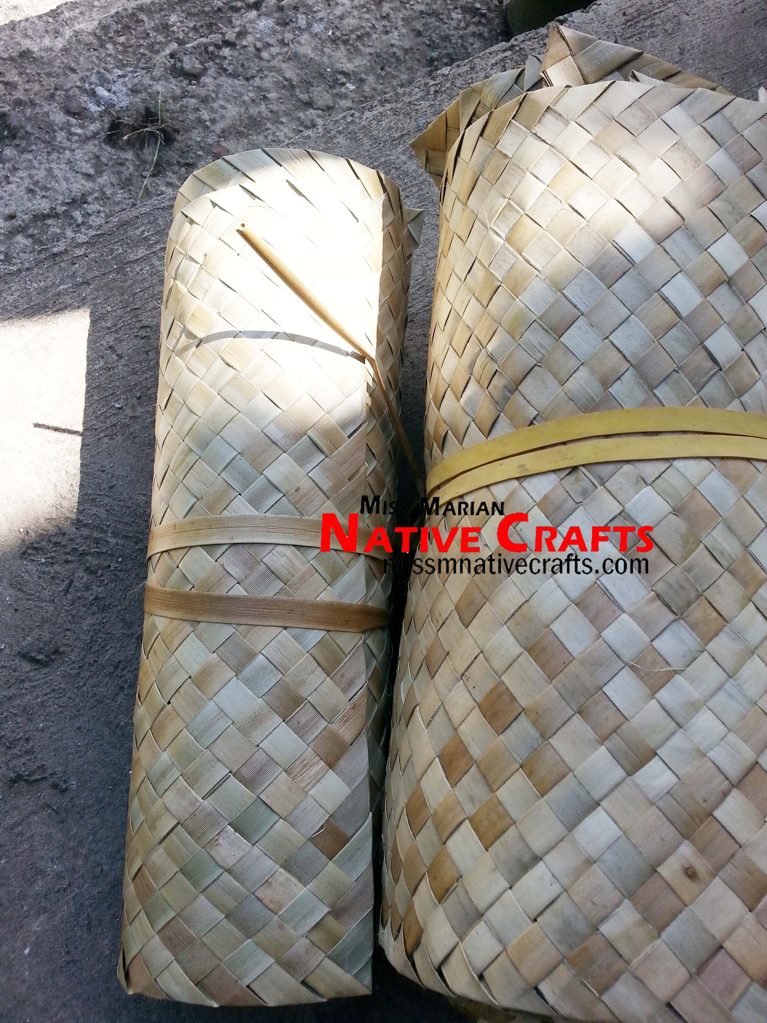 "Runner Rolls SIZE: » 12 x 12"" Table Matting  Lauhala 108 108 Lauhala x table runner"