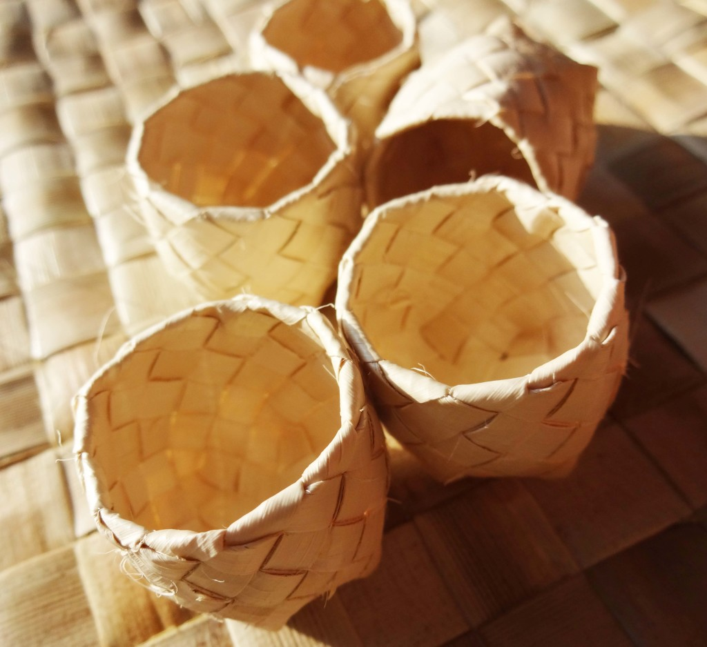 1.5 inch Buri Palm Box without Cover