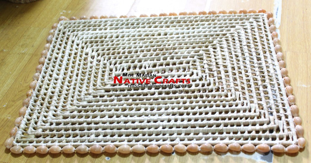 Lauhala Knot Placemat with Cowry shells