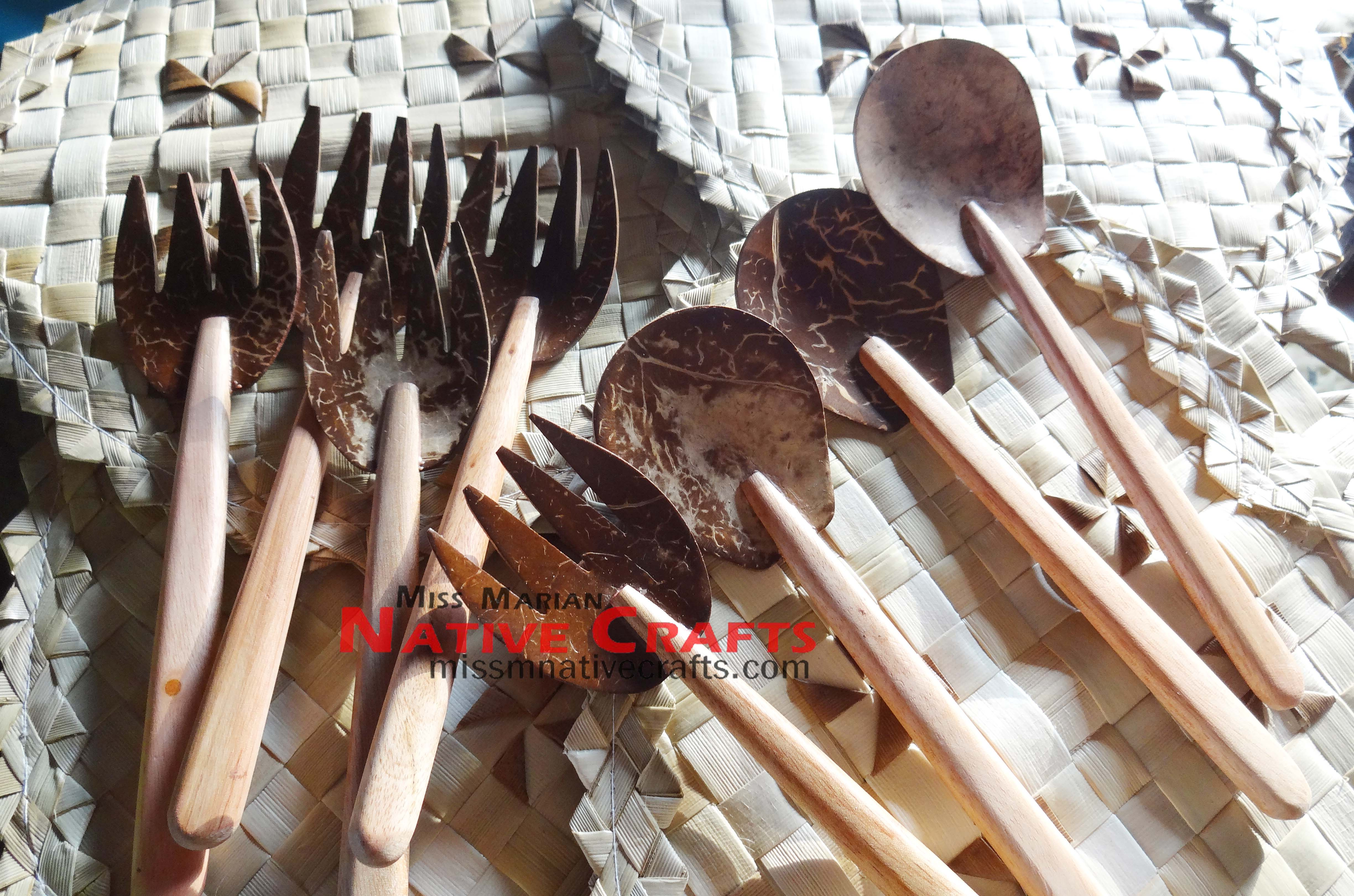 Coconut Shells Spoon And Fork Coconut Shell Crafts