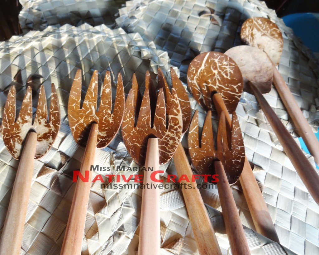 Coconut Shells Spoon and Fork