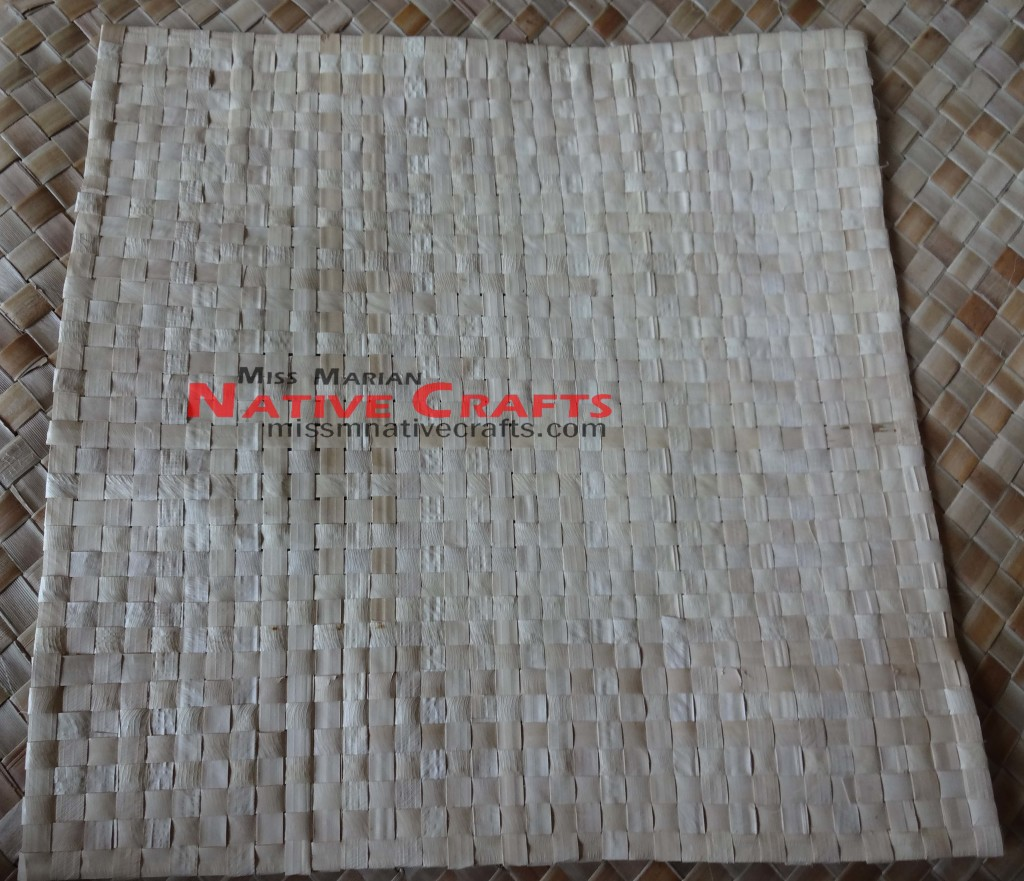 Buri Palm Leaf Placemant 12 X 12 Inches