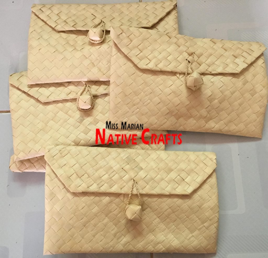 Palm leaf envelopes