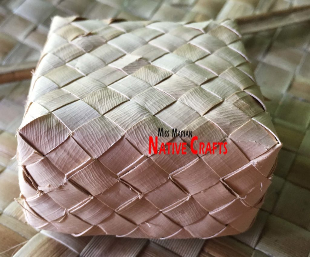 2 x 2 x 1 inch buri palm leaf box
